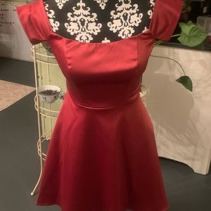 Satin formal empire homecoming dress.